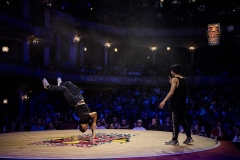 The Wolfer competing at the Red Bull Bc One Cypher Austria at the Volkstheater in Vienna on April 14th 2018 // Little Shao/Red Bull Content Pool // AP-1VC4KQEH52111 // Usage for editorial use only // Please go to www.redbullcontentpool.com for further information. //