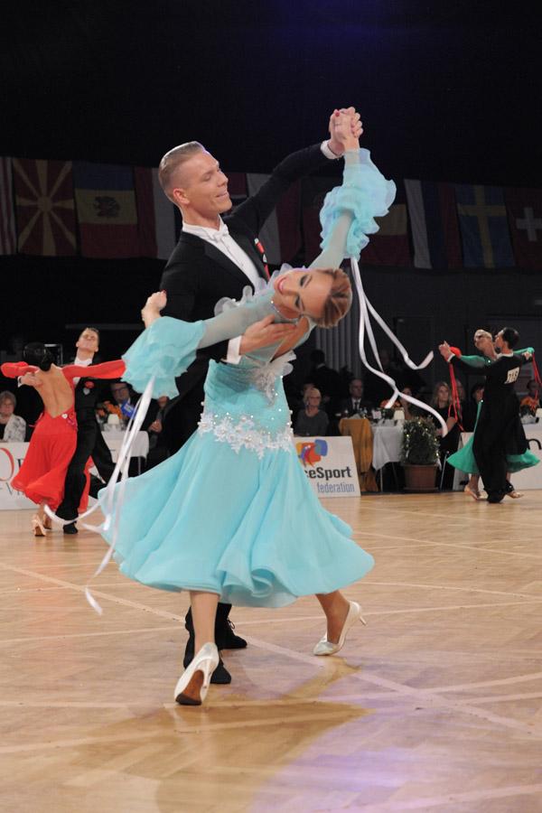 Vasily Kirin & Ekaterina Prozorova gewinnen die WDSF International Open Standard 2019, Foto: ÖTSV/Janoch